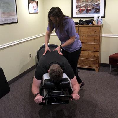 Dr. Chris adjusting child