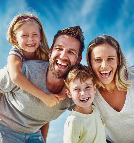 Happy Smiling Family