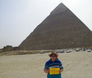 At the Egyptian Pyramids