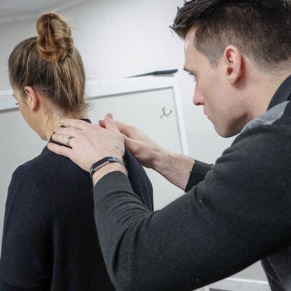 Cervical exam of patient