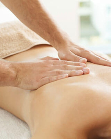 Woman receiving massage therapy