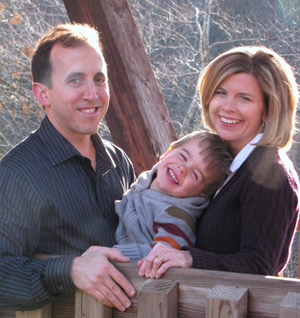Portrait of chiropractor in Alpharetta,Dr. Richard W. McCann and his family