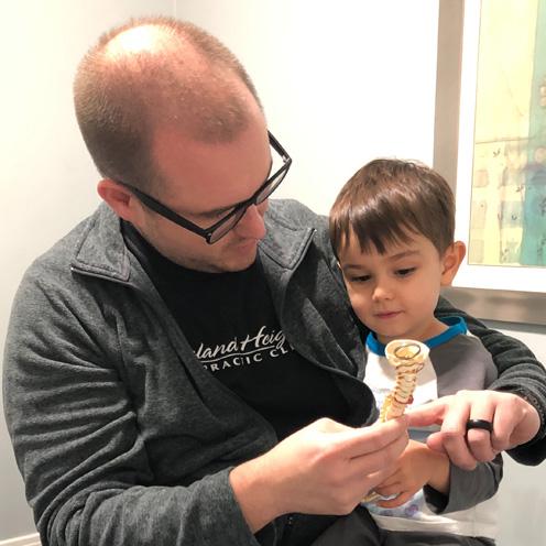 Dr. Alex showing Henry spine