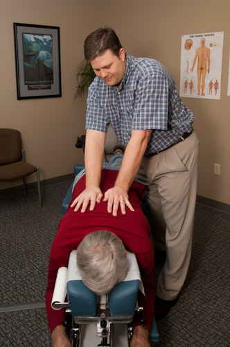 The chiropractor will determine how best to care for you.