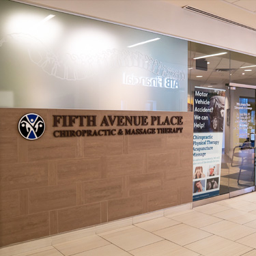 Front entrance of Fifth Avenue Place Chiropractic & Massage