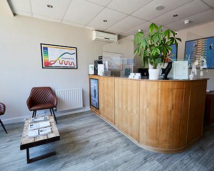 Chiropractic First reception desk