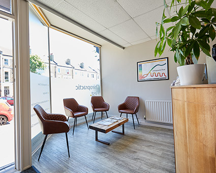 Chiropractic First Waiting room