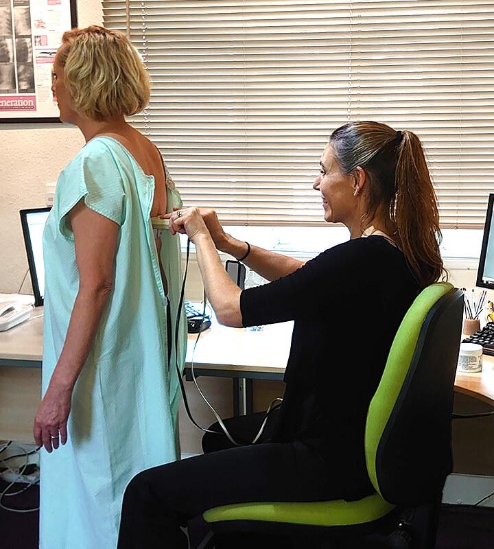 Belinda scanning patients back