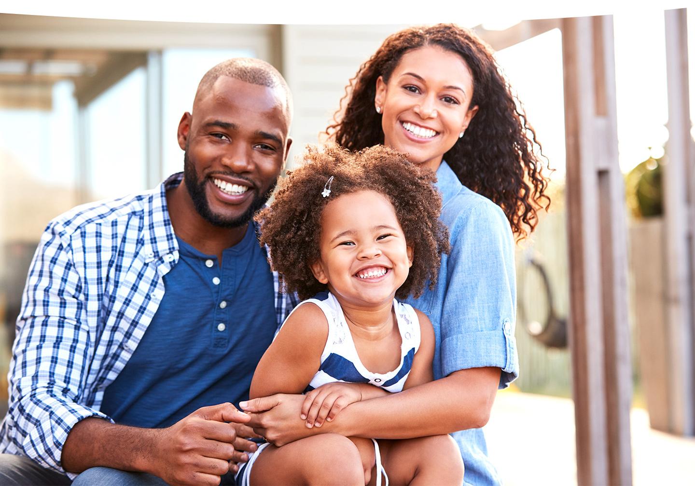 beautiful smiling family