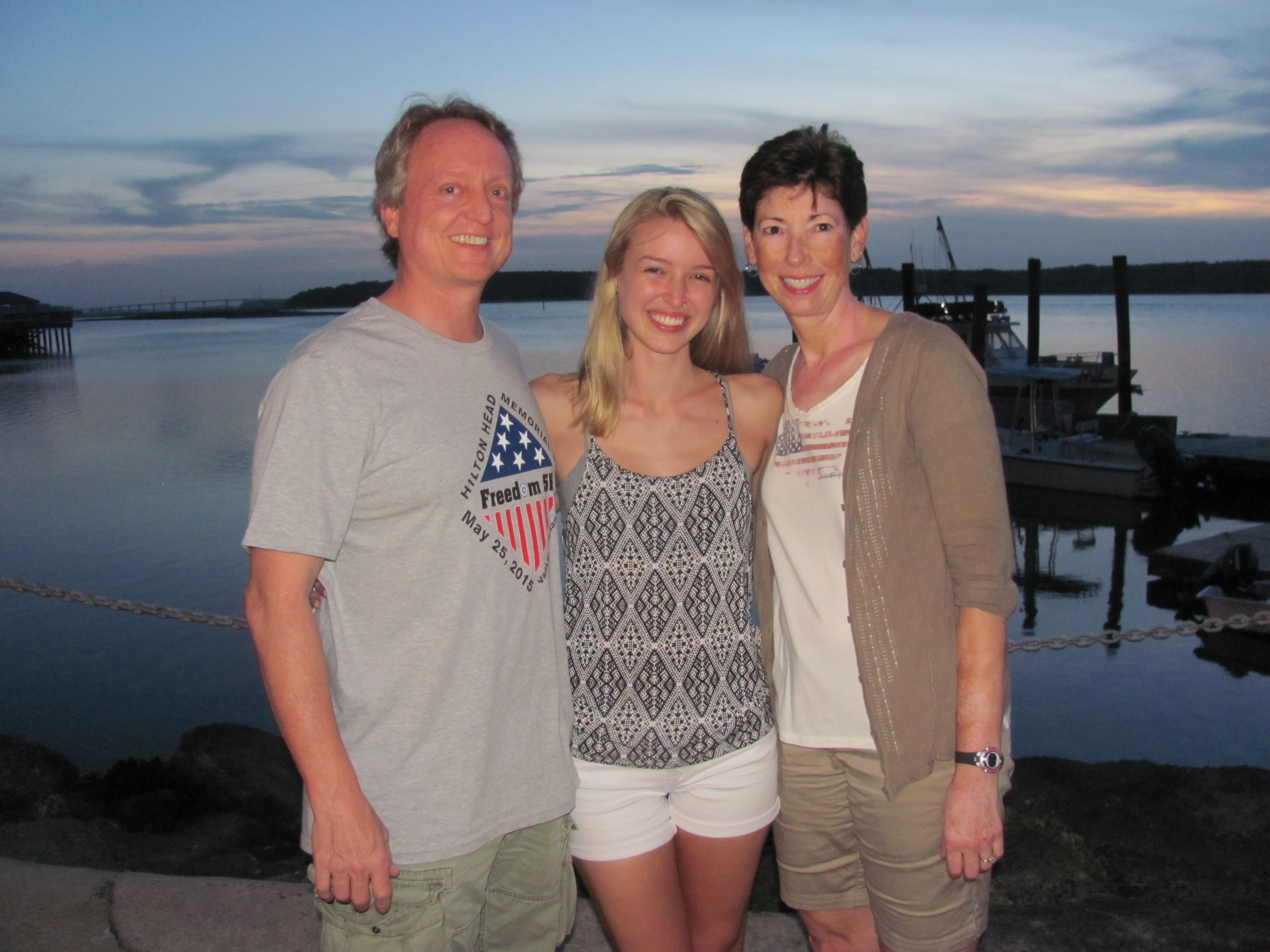 Dr Vince, Grace and Ruth at Hilton Head