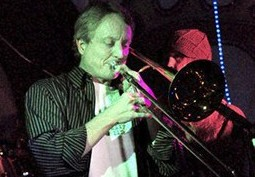 Dr. Vince playing trombone