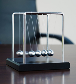 Newton's Cradle on desk