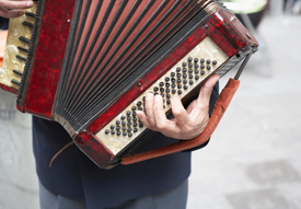 Man playing accordian