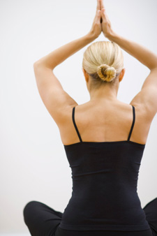 Woman with great posture in yoga pose