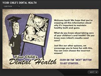 Child's Dental Health e-Learning Quiz