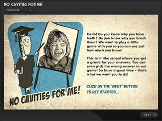No Cavities for me Dental e-Learning