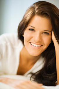Smiling woman with a beautiful smile