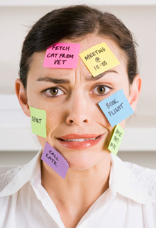 Woman emotionally stressed