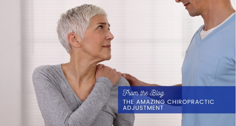 Woman with chiropractor.