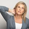 Unhappy woman in cervical collar