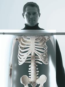 Man getting an X-ray