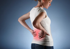 Girl with back pain.