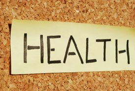 Health spelled on board
