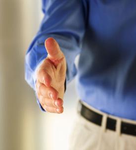 Man Extending Welcoming Hand