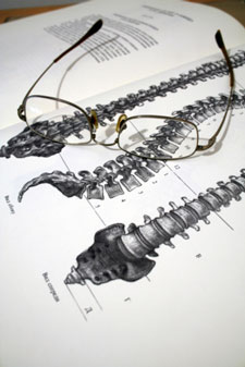 book with chiropractic spine