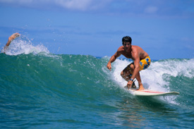 Surfing is hard on your body