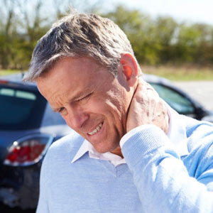 Man with neck pain following auto accident