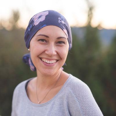 beautiful woman wearing headscarf