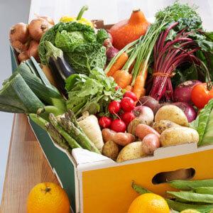 Fresh veggies in box