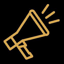 bullhorn icon in yellow