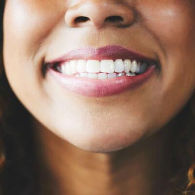 Closeup of pretty smile