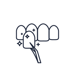 Illustration of dental veneers