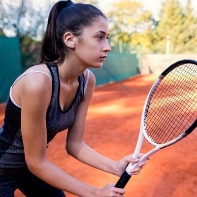 Focused tennis player