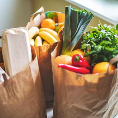Bag full of veggies