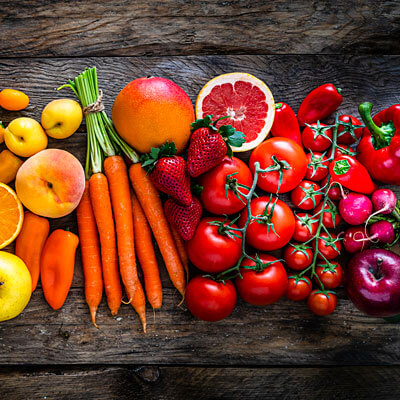 Colorful veggies on table