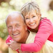 Happy, smiling older couple