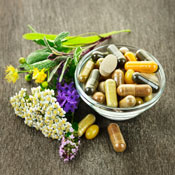 Nutritional supplements in a bowl
