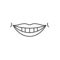 Drawing of big smile