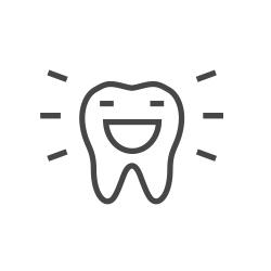 Happy tooth illustration