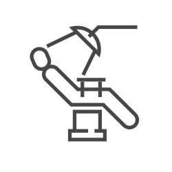 Dental chair illustration