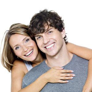 Happy, smiling young couple