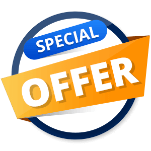 special offer banner blue and orange