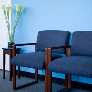 chairs in waiting area