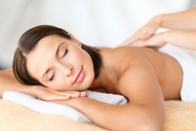 woman resting during massage