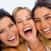 Women laughing
