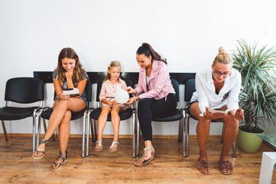Women in waiting room